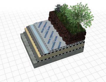 Gezinilebilir Yeşil Çatılar ve Peyzaj Uygulamaları için DELTA®-TERRAXX